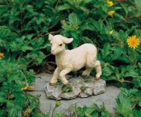 Gambling Lamb Farmyard Ornament